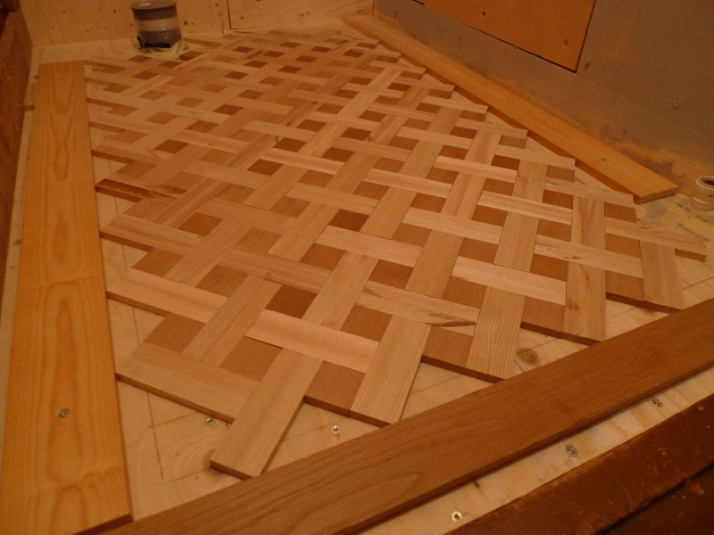 My first try on parquet flooring : Projects, workshop ...